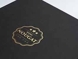 Hộp bánh Nougat nắp gập