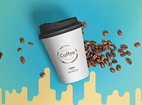 Nhãn cốc giấy cà phê