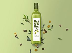 Nhãn dán chai dầu oliu