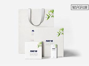 Nhận diện nhãn hiệu MAY10 - Tạo thương hiệu trên tất cả