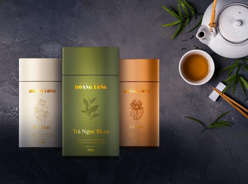 Trọn bộ bao bì trà Hoang Long Tea