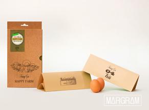 Trọn bộ bao bì đựng trứng Happy Farm
