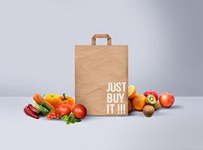 Túi giấy Kraft đựng hoa quả